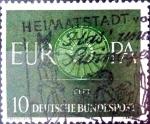 Sellos de Europa - Alemania -  Intercambio 0,20 usd 10 pf. 1959
