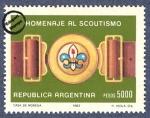 Sellos de America - Argentina -  75º aniversario del movimiento Scout