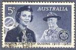 Sellos de Oceania - Australia -  Cincuentenario de los guías scouts