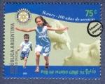 Sellos de America - Argentina -  100º aniversario del Rotary Internacional