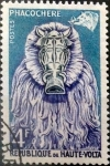 Stamps : Africa : Burkina_Faso :  Intercambio nf4xb1 0,20 usd 4 francos 1960