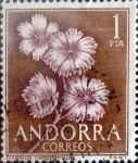 Stamps : Europe : Andorra :  Intercambio 0,60 usd 1 peseta 1966