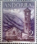 Stamps : Europe : Andorra :  Intercambio 0,50 usd 2 pesetas 1963