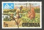 Stamps : America : Grenada :   14 reunión mundial de scouts en Noruega