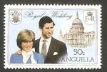 Stamps : America : Anguila :  409 - Boda Real del Príncipe Carlos y Lady Diana Spencer
