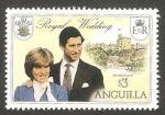 Sellos del Mundo : America : Anguila : 411 - Boda Real del Príncipe Carlos y Lady Diana Spencer