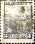 Sellos de America - Argentina -  Intercambio 0,30 usd 2 cents. 1899