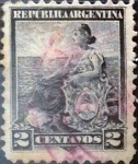 Stamps Argentina -  Intercambio 0,30 usd 2 cents. 1899