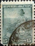 Stamps Argentina -  Intercambio 0,60 usd 15 cents. 1901