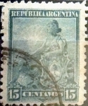 Stamps : America : Argentina :  Intercambio 0,60 usd 15 cents. 1901