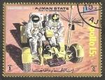 Sellos de Asia - Emiratos Árabes Unidos -  Ajman - Apolo XV