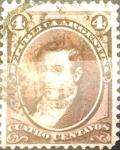 Stamps : America : Argentina :  Intercambio daxc 0,40 usd 4 cents. 1873