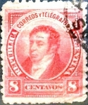 Stamps Argentina -  Intercambio 0,50 usd 8 cents. 1891