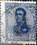 Sellos de America - Argentina -  Intercambio 0,30 usd 12 cents. 1909