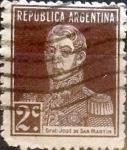 Sellos de America - Argentina -  Intercambio daxc 0,25 usd 2 cents. 1923