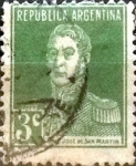Stamps Argentina -  Intercambio 0,25 usd 3 cents. 1923