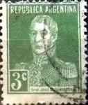 Sellos de America - Argentina -  Intercambio 0,25 usd 3 cents. 1923