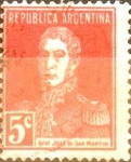 Stamps Argentina -  Intercambio 0,25 usd 5 cents. 1923