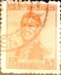 Sellos de America - Argentina -  Intercambio 0,25 usd 5 cents. 1917