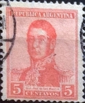 Sellos de America - Argentina -  Intercambio 0,25 usd 5 cents. 1917
