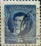 Sellos de America - Argentina -  Intercambio 0,50 usd 12 cents. 1893