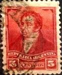 Sellos de America - Argentina -  Intercambio 0,30 usd 5 cents. 1892
