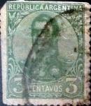 Sellos de America - Argentina -  Intercambio 0,40 usd 3 cents. 1908