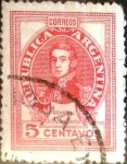 Sellos de America - Argentina -  Intercambio 0,20 usd 5 cents. 1945