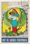 Stamps of the world : Equatorial Guinea :  Africa Navidad 74
