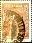 Stamps Argentina -  Intercambio 0,20 usd 5 cents. 1935