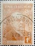 Sellos de America - Argentina -  Intercambio 0,20 usd 1 cents. 1935