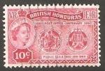 Stamps : America : Belize :  Honduras Británica - 160 - Centº del correo inglés