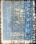 Sellos del Mundo : America : Argentina :  Intercambio daxc 0,25 usd 5 cents. 1921