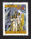 Sellos de Europa - Hungría -  Los astronautas soviéticos y húngaros
