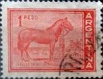 Stamps Argentina -  Intercambio 0,20 usd 1 peso 1959
