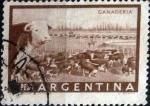 Stamps : America : Argentina :  Intercambio 0,20 usd 1 pesos 1958