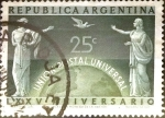 Stamps Argentina -  Intercambio 0,20 usd 25 cents. 1949