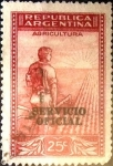 Stamps Argentina -  Intercambio 0,20 usd 25 cents. 1936