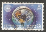 Stamps America - Virgin Islands -  450 - Día de la Commonwealth, vista de la Tierra y las Islas
