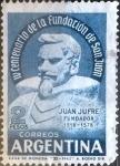 Stamps Argentina -  Intercambio 0,20 usd 2 pesos 1962