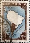 Sellos de America - Argentina -  Intercambio 0,30 usd 1 pesos 1937