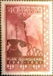 Sellos de America - Argentina -  40 cents. 1951