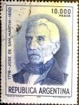 Stamps : America : Argentina :  Intercambio 0,30 usd 10000 pesos 1981