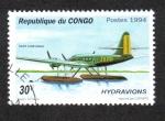 Sellos de Africa - República del Congo -  Hidroaviones