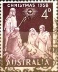 Stamps : Oceania : Australia :  4 p. 1958