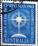 Stamps : Oceania : Australia :   5 p. 1963