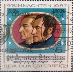 Stamps : Europe : Austria :  Intercambio hbr 0,55 usd 5 s. 1987