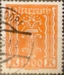 Sellos del Mundo : Europa : Austria :  Intercambio ma4s 0,20 usd 1500 k. 1924