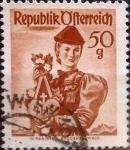 Stamps Austria -  Intercambio 0,20 usd 50 g. 1949