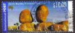 Stamps : Oceania : Australia :  AUSTRALIA 2000 Michel 1935 SELLO PAISAJES DEVILS MARBLES